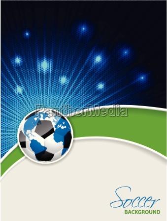 opuscolo di calcio astratto con la