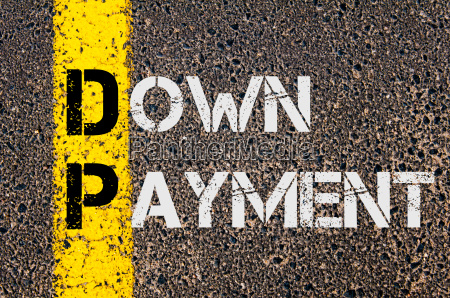 business acronym dp as down payment