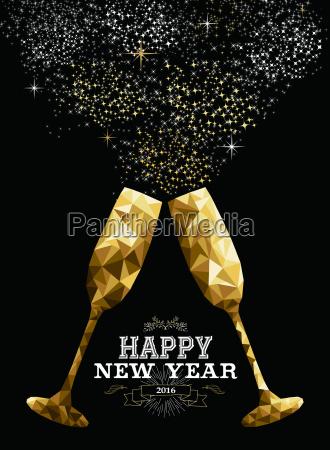felice anno nuovo 2016 toast vetro