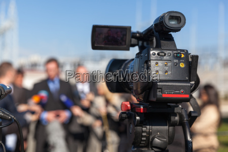 conferenza stampa filmare un evento con