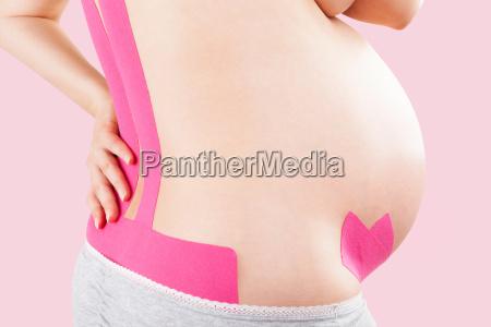 kinesio tape on pregnant