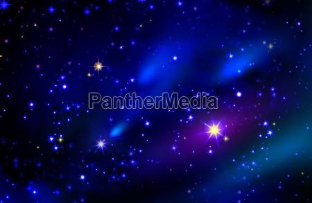 stelle e lo spazio galassia cielo