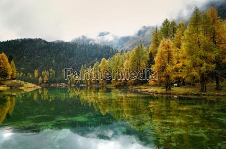 mountain lake at albula pass