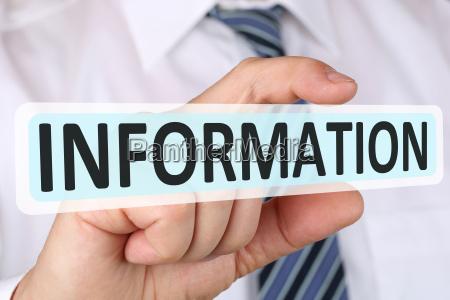 business man concept con informazioni utili