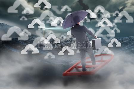 traffico ruvido onde guardare osservare ombrello