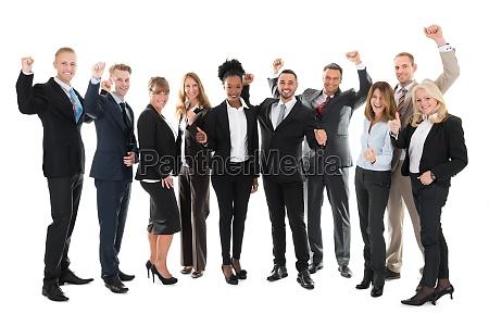 piena lunghezza di happy business team