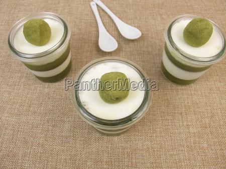 bicolore gelatina stratificato gelificare dessert smoothie