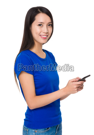 asian young woman use of the