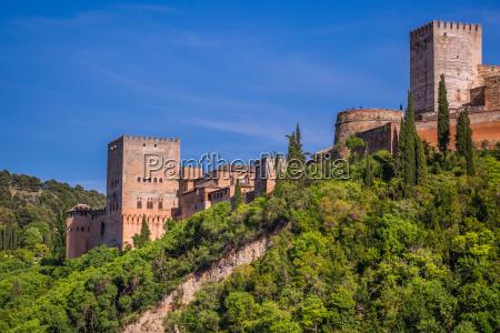 antica fortezza araba di alhambra granada