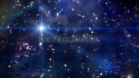 star glow in space blue color