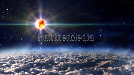 space star planet explosion