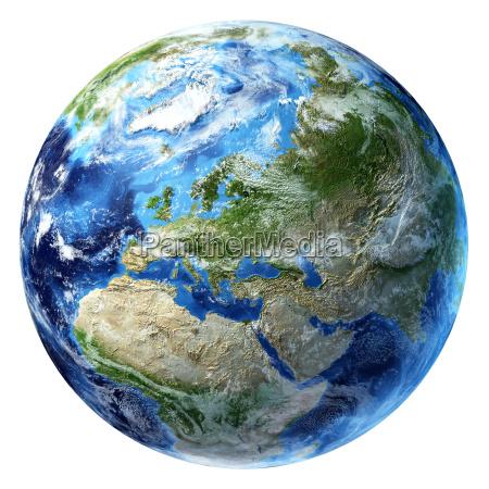 pianeta terra con alcune nuvole europa