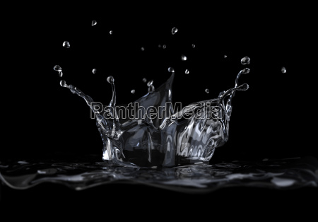 water crown splash viewed from a