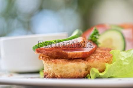 cibo primo piano foglie ristoro cucina