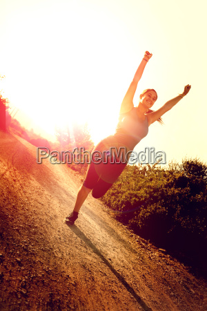 ragazza jogging