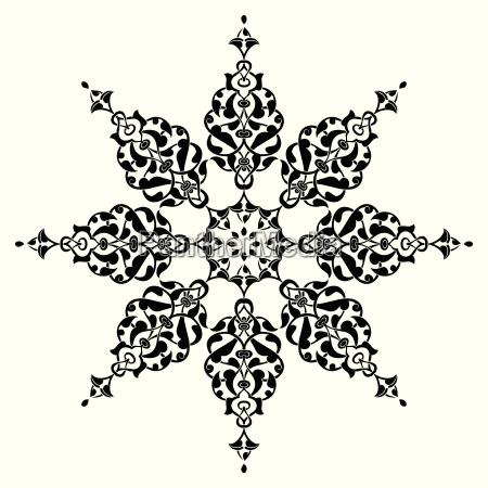 antique ottoman turkish vector design nine