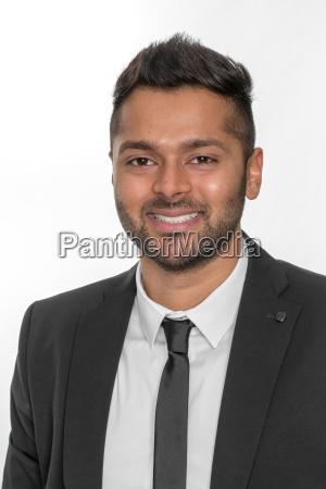 confident smiling man in portrait