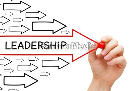 concetto di frecce di leadership