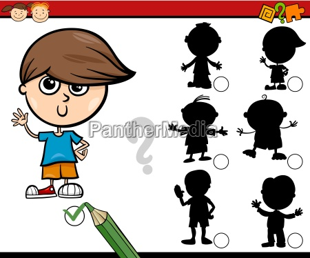 ombre compito cartoon per i bambini