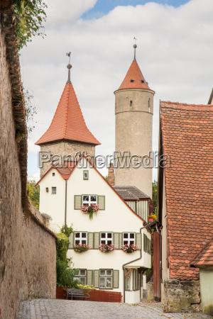 medieval watch tower in dinkelsbuehl
