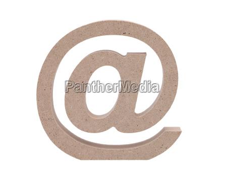 simbolo di posta elettronica su sfondo