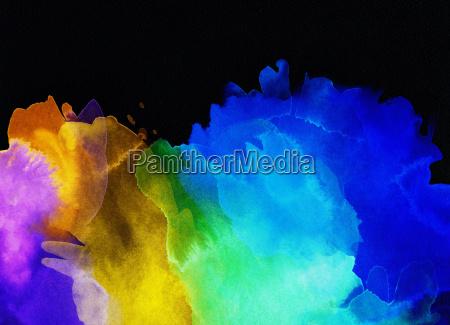 watercolor colors black runs