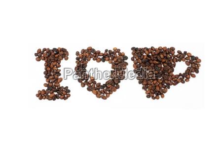 chicchi di caffe a forma di