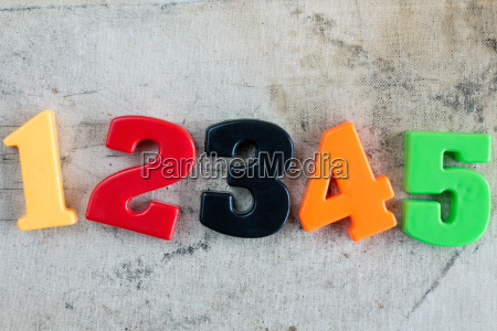 colored numbers on canvas background
