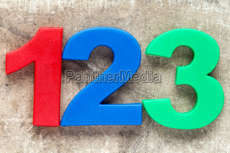 123 colorful plastic number