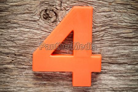 orange number four