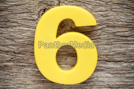 yellow number six