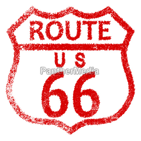 route 66 stamp