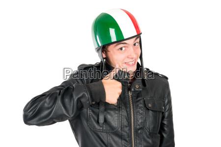 traffico ciclista casco adolescente teenager trasporto
