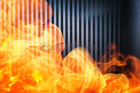 stanza caldo muro calore fuoco incendio
