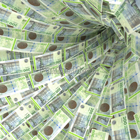 strudel di denaro di 200 banconote