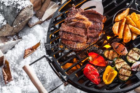 allaperto barbecue invernale