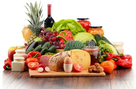 cibo biologico compresi i verdure frutta
