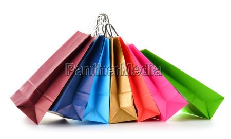 sacchetti di carta isolati su sfondo