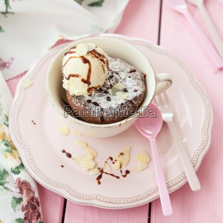 coppa torta con gelato