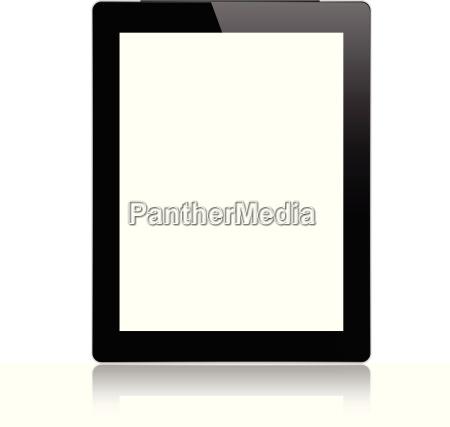 mockup digital tablet isolated on white