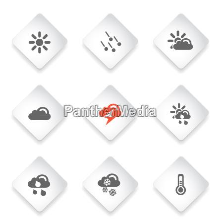 icone vettoriali semplici meteo