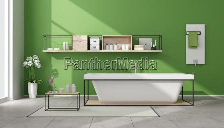 minimalista bagno verde