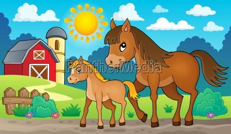 cavallo con immagine tema puledro 2