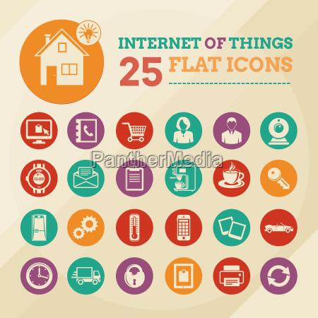 set di icone casa intelligente e