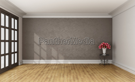 stanza legno marrone interno annata rose