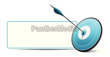 target e arrow comunicazione vector business