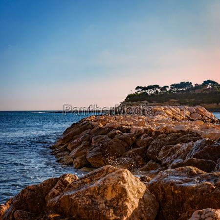 mediterranean coast in autumn