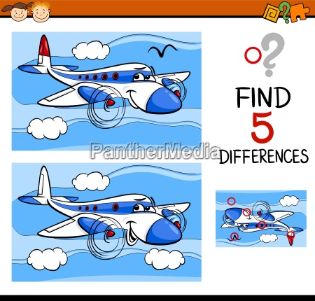 educazione illustrazione trovare scoperta fumetto differenze