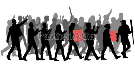 illustrazione silhouette dimostrazione vettore propaganda presentatore