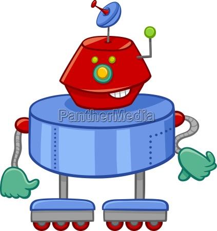 divertente personaggio dei cartoni animati robot